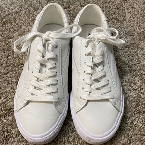 Madewell white leather sneakers size 7